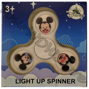 Disney Light Up Toy - Fidget Spinner - Emoji Mickey White