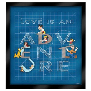 Disney 4 Pin Frame Set - Love Is An Adventure - Building Our Adventure