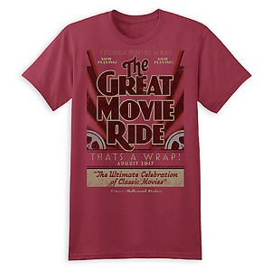 Disney Adult Shirt - Great Movie Ride - That's A Wrap - Red