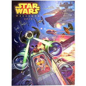 Disney Framed Giclee -Tommy Lee Edwards - Star Wars Weekends 2014 Logo