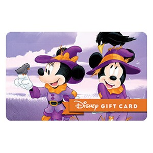 Disney Collectible Gift Card - Scarecrow Fun - Halloween Mickey Minnie