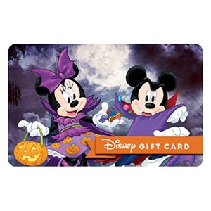 Disney Collectible Gift Card - Trick or Treat Halloween Mickey Minnie