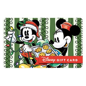 Disney Collectible Gift Card - Vintage Christmas - Mickey Minnie