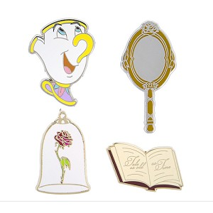 Disney 4 Pin Set - Beauty and the Beast Icons - Chip Rose Mirror