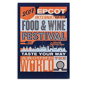Disney Poster - 2017 Epcot Food and Wine Festival Taste Your Way Logo