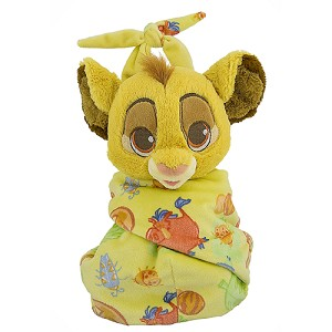 Disney Babies Plush - Baby Simba with Blanket Pouch