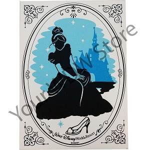 Disney Silhouette Print - Walt Disney World - Princess Cinderella
