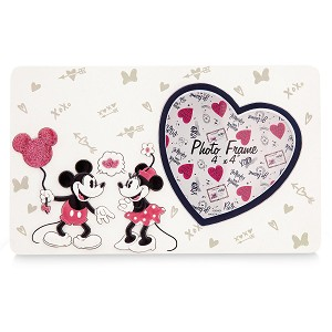 Disney Picture Frame - Mickey Minnie Sweethearts Love - 4 x 4