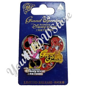 Disney Shanghai Pin - Grand Opening MINNIE MOUSE on Icon Background