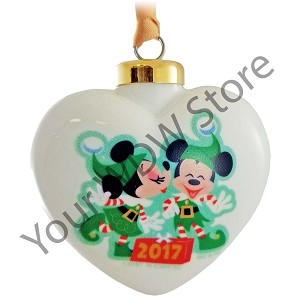 Disney Ornament - Mickey's Very Merry Christmas Party 2017 Heart