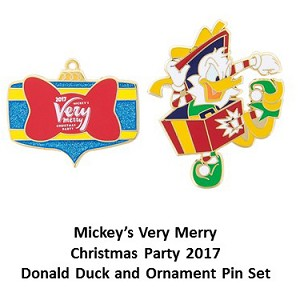 Disney Very Merry Christmas Party Pin Set - 2017 Donald Duck