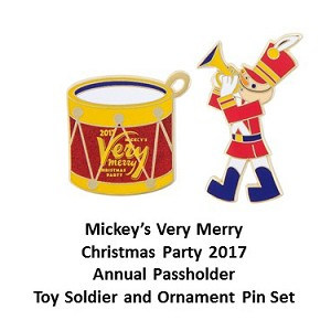 Disney Very Merry Christmas Party Pin Set - 2017 Passholder