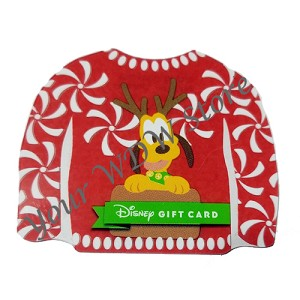 Disney Gift Card - 2017 Holiday Series - Pluto Ugly Sweater