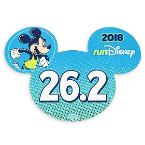 Disney Auto Magnet - runDisney 2018 Mickey Mouse - 26.2