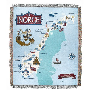 Disney Epcot Norway Mickey & Friends Throw