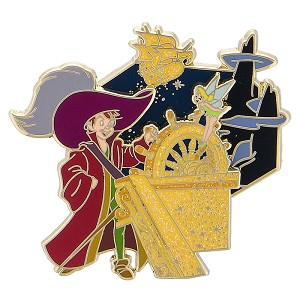 Disney Peter Pan Pin - 65th Anniversary - Jolly Roger - Tinker Bell