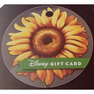 Disney Collectible Gift Card - Flower and Garden Festival - 2018 - Sunflower
