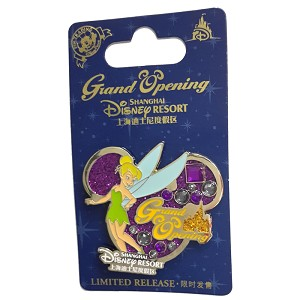 Disney Shanghai Pin - Grand Opening TINKERBELL On Icon Background
