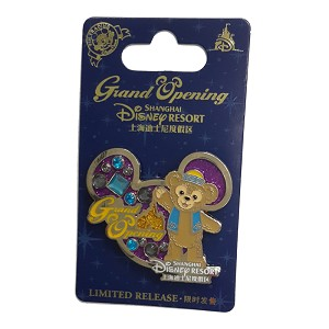 Disney Shanghai Pin - Grand Opening  DUFFY Bear On Icon Background