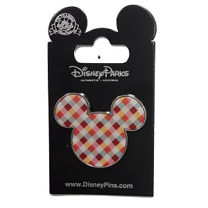 Disney Shanghai Pin - Grand Opening - Plaid Mickey Icon Pin