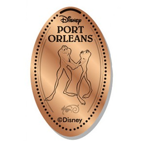 Disney Pressed Penny - Naveen & Tiana as Frogs