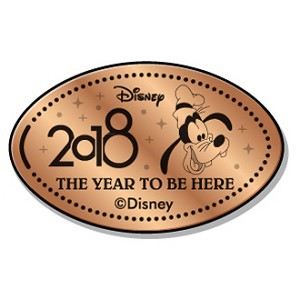 Disney Pressed Penny - 2018 Goofy Face