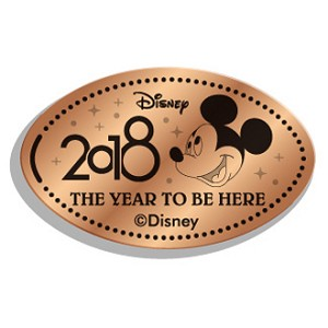 Disney Pressed Penny - 2018 Mickey Face