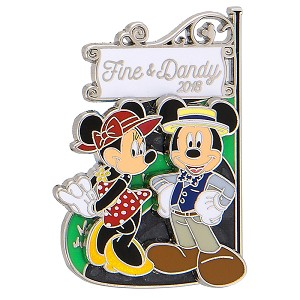 Disney Dapper Day Pin - 2018 Fine & Dandy - Mickey and Minnie
