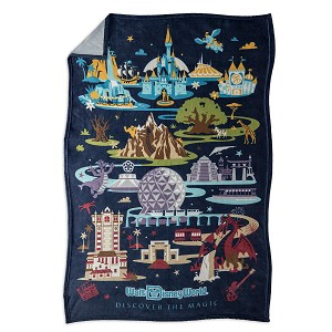 Disney Throw Blanket - Passport Collection - Disney World Icons