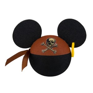 Disney Antenna Topper - Pirates of the Caribbean Mickey Mouse Ears with Earring