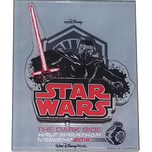 Disney Acrylic Fridge Magnet - Star Wars Half Marathon 2018 Event Logo