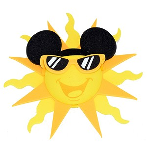 Disney Antenna Topper - Yellow Sun with Sunglasses and Mickey Ears