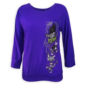 Disney Women's Shirt - Tower of Terror - Mickey and Friends - Purple
