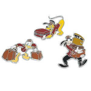 Disney 3 Pin Set - Tower of Terror Goofy Donald Pluto