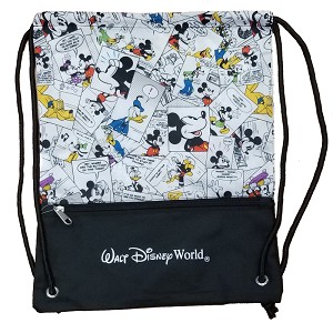 Disney Cinch Backpack - Mickey Mouse Comic Strip