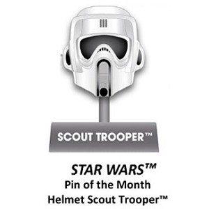 Disney Star Wars Helmets Series Pin - #6 Scout Trooper