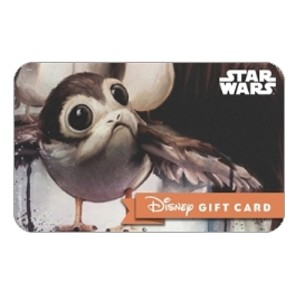 Disney Collectible Gift Card - Star Wars - Porgs