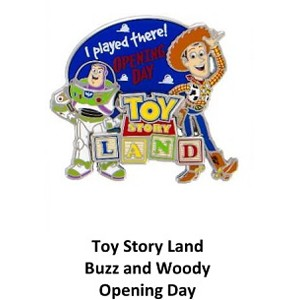 Disney Toy Story Land Pin - Opening Day 2018 - Woody and Buzz