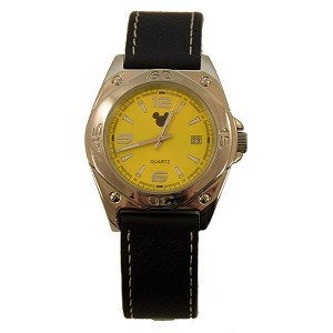 Disney Watch - Jorg Gray - Mickey Silhouette - Yellow Face