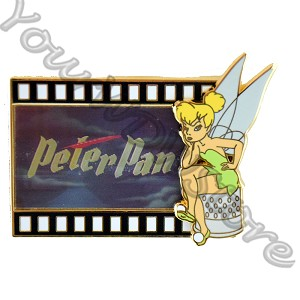 Disney Animation Celebration Pin - Peter Pan Filmstrip - Lenticular
