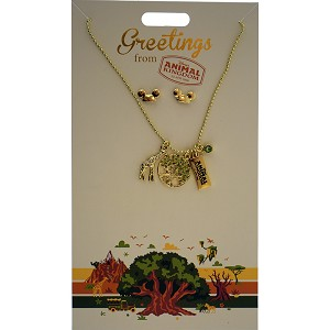 Disney Necklace and Earrings Set - Greetings From - Animal Kingdom
