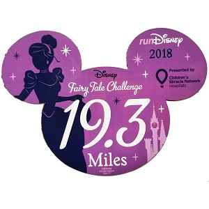Disney Car Magnet - runDisney Princess Half Marathon Weekend 2018 19.3