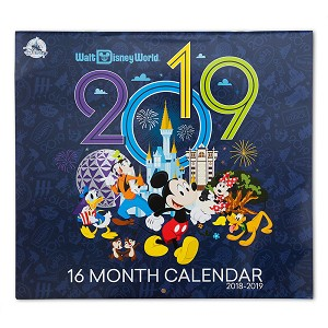 Disney Calendar - Walt Disney World 2018 to 2019 - 16 Month