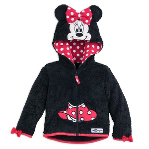 Disney Infant Hoodie - Minnie Mouse Hooded Fleece Jacket for Baby