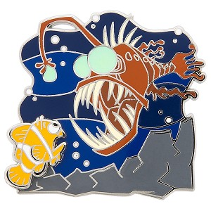 Disney Finding Nemo Pin - Marlin and Scary Fish