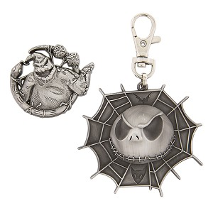 Disney Lanyard Medal and Pin Set - Jack & Oogie Boogie