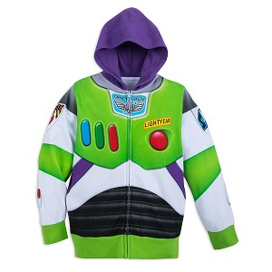 Disney Child Hoodie - Toy Story Buzz Lightyear Costume Zip Hoodie
