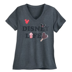 Disney Women's Shirt - Disney Life - Popcorn Ice Cream Balloon Ear Hat