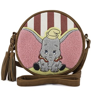 Disney Loungefly Crossbody Bag - Dumbo Striped Canvas Hand Bag