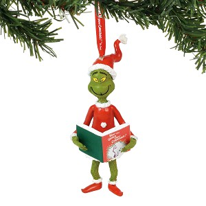Universal Department 56 Ornament - Grinch - Grinch with The Book